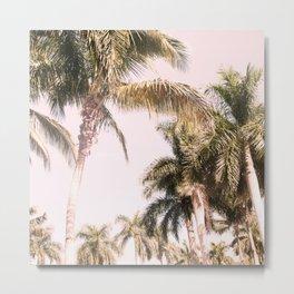 Floridian Palm Tree Vibes #2 #tropical #wall #decor #art #society6 Metal Print