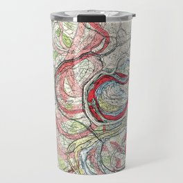Vintage Map of the Mississippi River Travel Mug