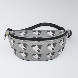 Black and White Pit Bull Fanny Pack