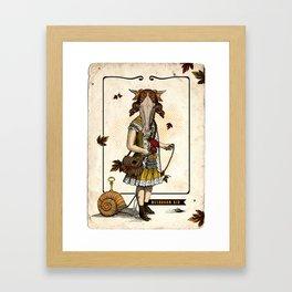 Mushroom Kid Framed Art Print