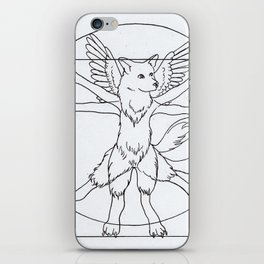 DaVinci Dog Lines iPhone Skin