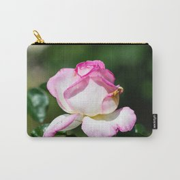 White and pink rose Carry-All Pouch