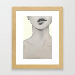 I bite my lips when I'm nervous 01 Framed Art Print