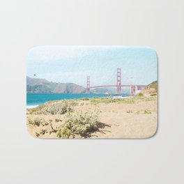 Golden Gate Bridge Beach Bath Mat