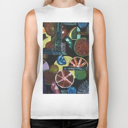 Abstract Fruits Biker Tank