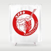 ramen Shower Curtains featuring This Is My Ramen Shirt by Bouké