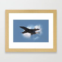 Super Hornet Shockwave Framed Art Print