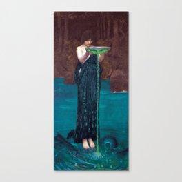 John William Waterhouse - Circe Invidiosa Canvas Print