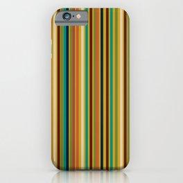 Joseph Stripes Vertical - Mid Century Mod Stripe Pattern in Teal, Olive, Maroon, Navy, Orange, and Mustard iPhone Case