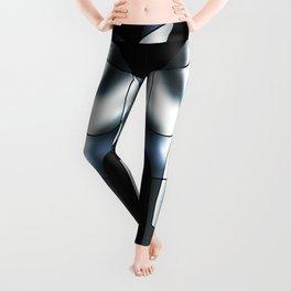 ABSTRACT CURVES #1 (Black, Grays & White) Leggings