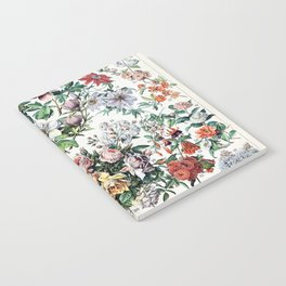 Adolphe Millot - Fleurs C - French vintage poster Notebook