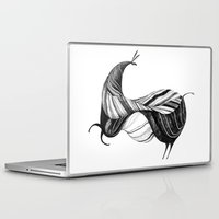 donkey Laptop & iPad Skins featuring donkey by mr. louis