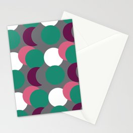 Overlapping Dots Stationery Cards