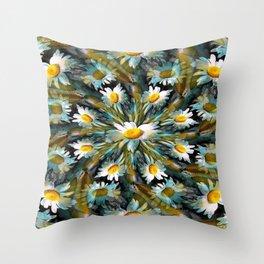 Shasta Daisy Abstract 3 Throw Pillow