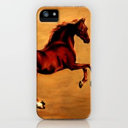 The Horse, after  George Stubbs iPhone Case