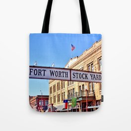 Fort Worth Stock Yards Tote Bag