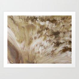 Mocha Marble Watercolor Art Print