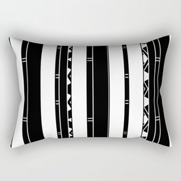 Minimalist Modern stripes black white Rectangular Pillow