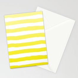 Sun Yellow Handdrawn horizontal Beach Stripes - Mix and Match with Simplicity of Life Stationery Cards
