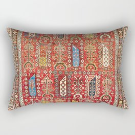 Shirvan Caucasian Antique Carpet Rectangular Pillow