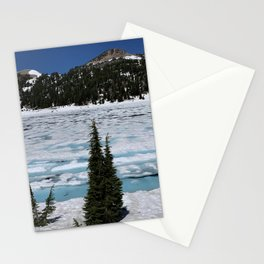 Icy Mountain Lake : Lassen National Park Stationery Cards