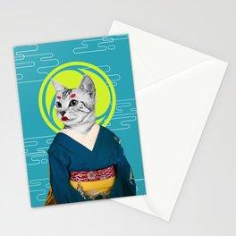 Geisha Cat Stationery Cards