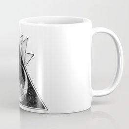 Geometric Crescent Moon Mandala Coffee Mug