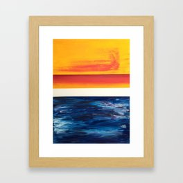 Abstract (Sun/Water) Framed Art Print