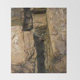 Door into the Cliff Face Throw Blanket