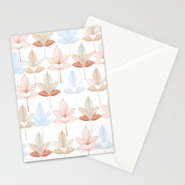 Stylized Leaves Stationery Cards