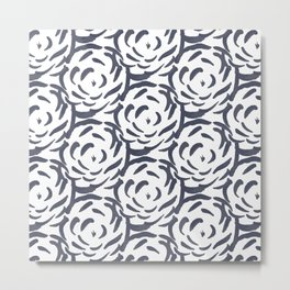 Roses Are Blue Metal Print
