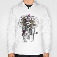 hippie Hoodies featuring Hippie Elephant by  Steve Wade ( Swade)