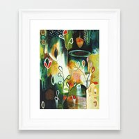 "flora bowley Framed Art Prints featuring ""Deep Growth"" Original Painting by Flora Bowley by Flora Bowley"