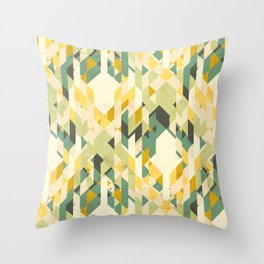 des-integrated tartan pattern Throw Pillow