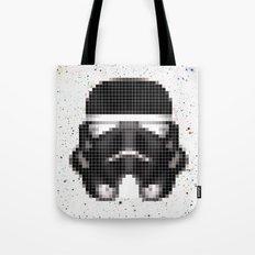 Stormtrooper Helmet Pixel Inverted Tote Bag