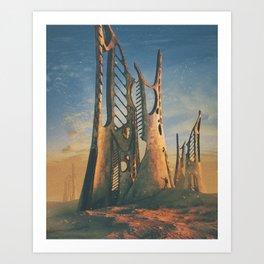 GREAT CARCASS (everyday 01.16.16) Art Print