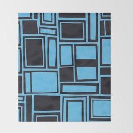 Windows & Frames - Blue Throw Blanket