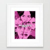 the breakfast club Framed Art Prints featuring Breakfast Club by David Amblard
