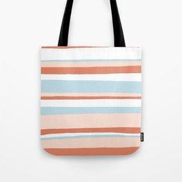 mesa, desert pastel stripes Tote Bag