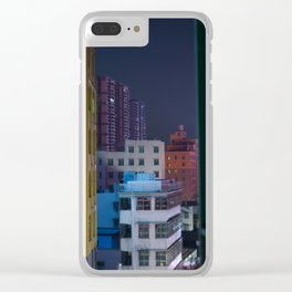 Paper Cut Out City Clear iPhone Case