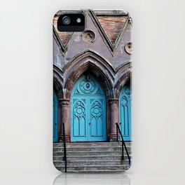 Three Turquoise Doors  iPhone Case