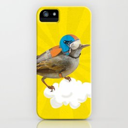 Little bird on little cloud iPhone Case