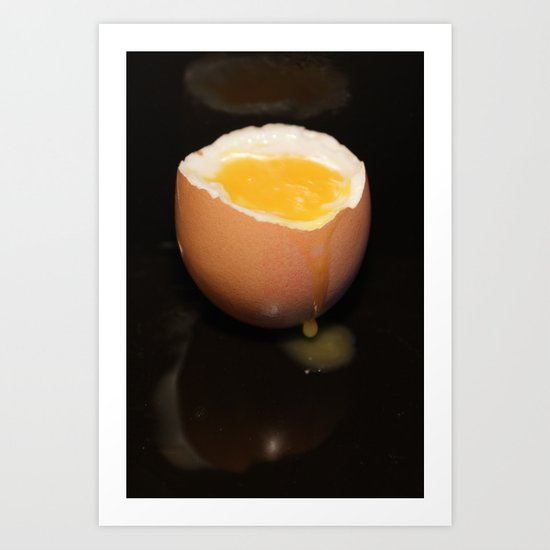 Breakfast on Black Art Print