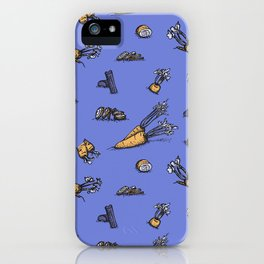 Trendy ultraviolet pattern with cattor and celery iPhone Case