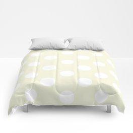Polka Dots (White/Beige) Comforters