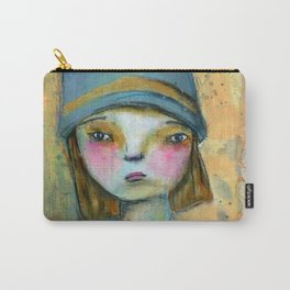 Girl in the Blue Hat Carry-All Pouch