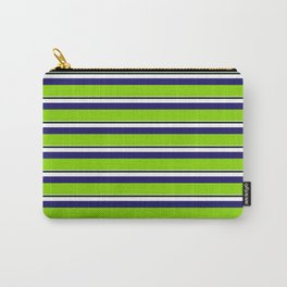 Green Stripes of Spring Carry-All Pouch