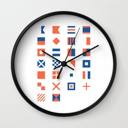Nautical Flag Alphabet Wall Clock