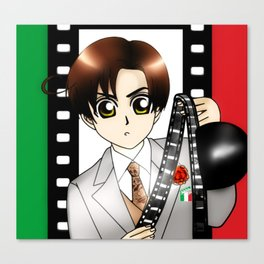 Chibi Cinema-Romano Canvas Print