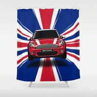 dale cooper Shower Curtains featuring UK Cooper by McGrathDesigns